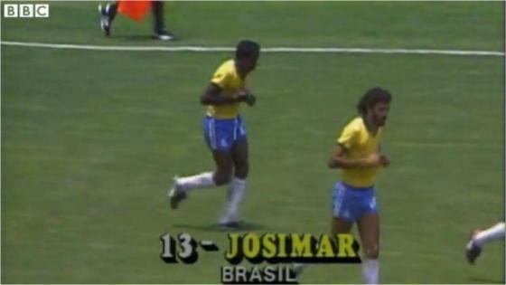 goalscorer in Brazil v Poland, World Cup 1986