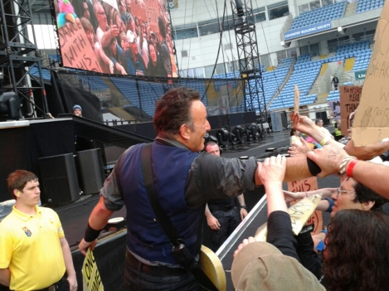 Musical legend meets Bruce Springsteen