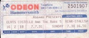 My ticket. £16.50 was a lot for a gig in those days!