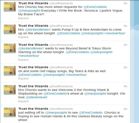 Elvis Costello tweets