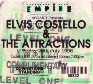 Elvis Costello Shepherds Bush Empire July 1996