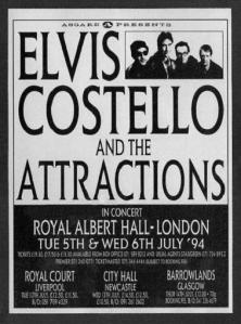 Elvis Costello Albert Hall poster