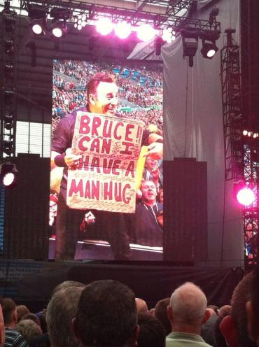 Bruce Springsteen Coventry June 2013 Can I have a man hug