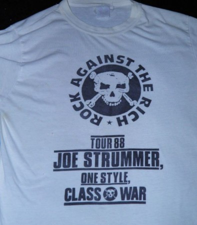 Joe Strummer 1988 tour Rock against the Rich
