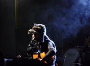 Gruff Rhys in his wolf hat