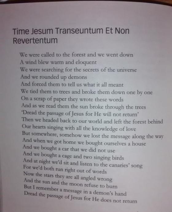 time jesum transeuntum et non revertentum