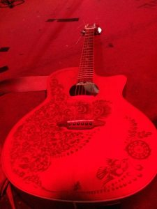 mick's guitar (not really this red)