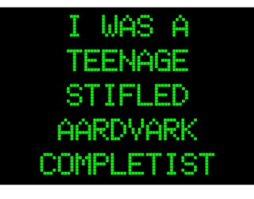 I was a teenage stifled aardvark completist