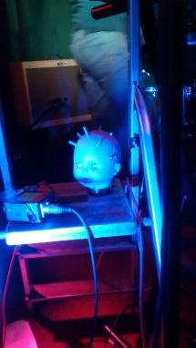 creepy baby's head theremin